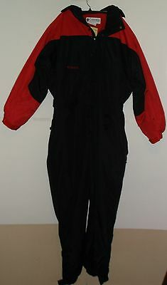 Columbia men size large black and red insulated nylon ski snowsuit
