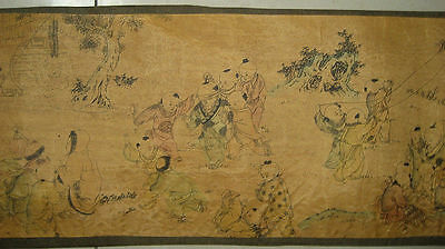 Chinese painting scroll One hunderd Children On Silk