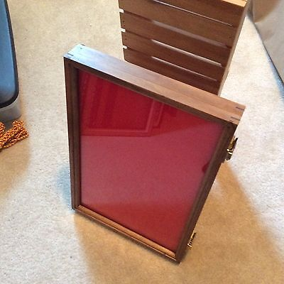 "1 (only) - 12 x 18 x 2"" WALNUT Wood Display Case (Made in US) at Wholesale price"