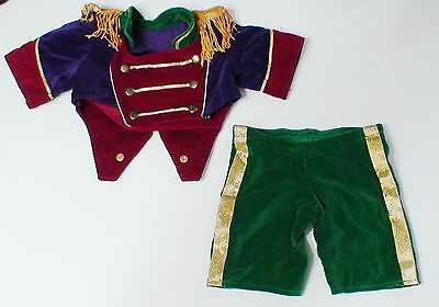 The Vermont Teddy Bear Company Band Drummer Parade Uniform Clothing Set