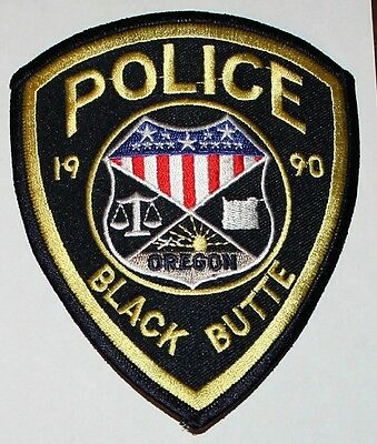 BLACK BUTTE POLICE Oregon OR PD patch