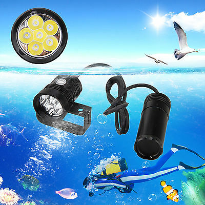 10000LM 6x XM-L2 LED Diving Flashlight Waterproof Torch Underwater 150m 3x18650