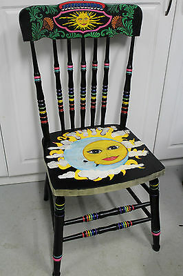 Hand painted chair