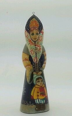 Russian Hand Carved Painted no Nesting Doll CHRISTMAS ORNAMENT / Reindeer
