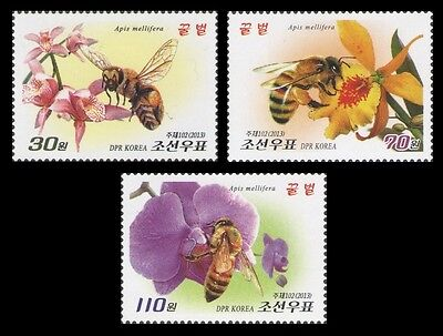 Korea 2016 bees insects flowers 3v set MNH