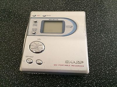 Sharp MD-MT170 Personal MiniDisc Player Working DC 5V VGC - Does Not Record