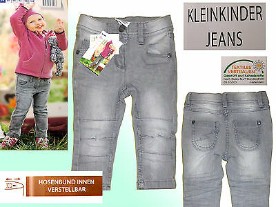 Jeans Trousers Girs Jeans Children Jeans Stretch Jeans Size 74 -80 Grey New