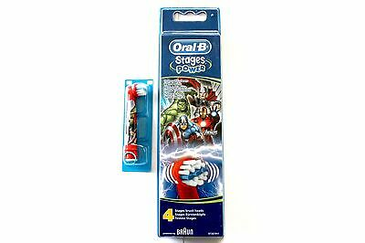 Oral-B By Braun Stages Power Avengers Toothbrush Heads - Please Choose Amount: