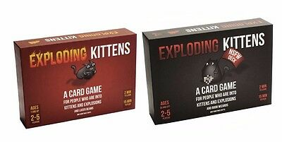 EXPLODING KITTENS CARD GAME NSFW / Original VERSIONS - AU Edition