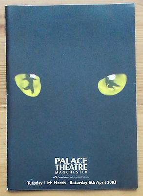 Cats programme Palace Theatre Manchester 2003 Summer Strallen Nicholas Pound