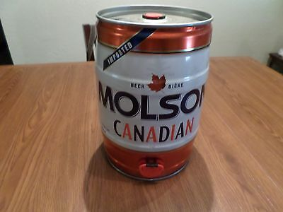 Molson Canadian Imported Canada Maple Leaf Gallon 5 L Keg Beer Can