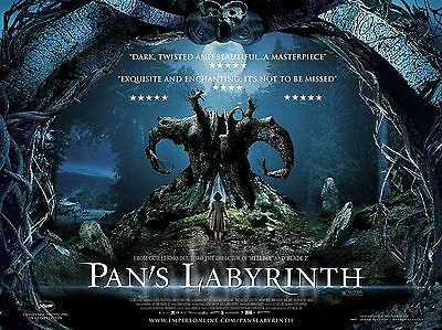 """Pans Labyrinth 16"""" x 12"""" Repro Movie Poster Photograph"""