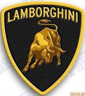 LAMBORGHINI iron on embroidery patch 2.8 X 2.2  EMBROIDERED PATCHES  Car Auto
