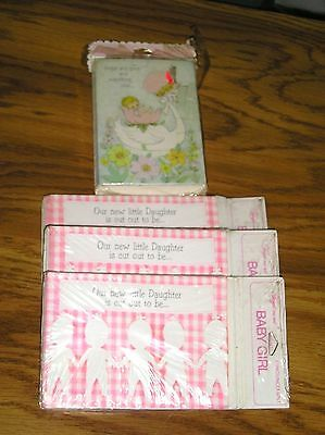 Vintage Birth Announcements - For Girl - 36 Cards & Envelopes