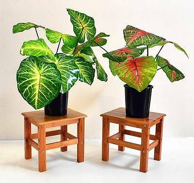 New Multi-function Indoor & Outdoor Bamboo Flower Stand Stool (Small)  * 2 Units