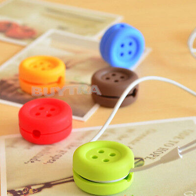 Button Cable Cord Wire  Organizer Bobbin Winder Wrap For Headphone Earphone