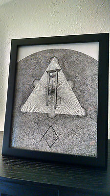 Golden Dawn Guillotine Unicursal Hexagram Aleister Crowley Occult Ink Drawing