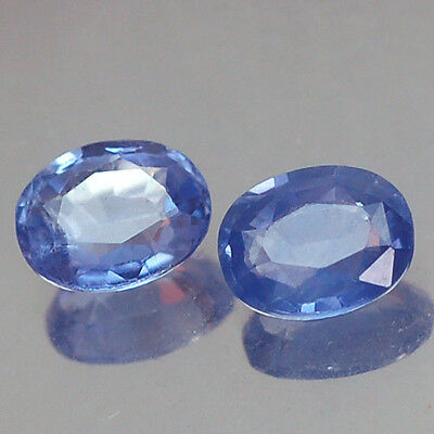 1.56Ct Awesome Aa Pair Unheated Blue Oval Ceylon Sapphire Natural