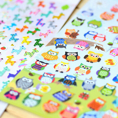 Cute Lovely 3D Bubble Stickers Kawaii Cartoon Animal Sticker Kids Toy Gift CL