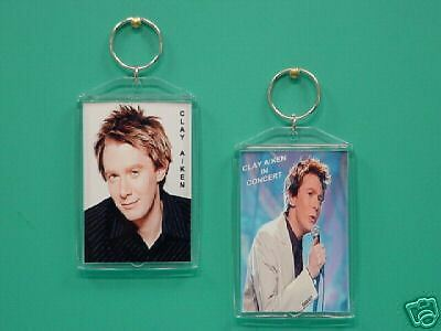 CLAY AIKEN - with 2 Photos - Designer Collectible GIFT Keychain 01