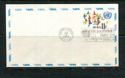 United Nations 1973 Fdc Ppe Pse Air Mail First Day Cover  Cds New York Usa