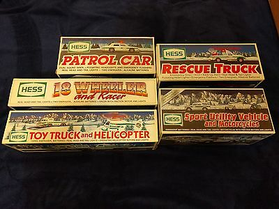Lot of 5 - Hess Truck, Car, Racer - from early 90's & 2004 - NIB