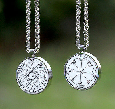 Talisman Pentacle of MERCURY HQ AMULET SET stainless steel + chain Solomon seal
