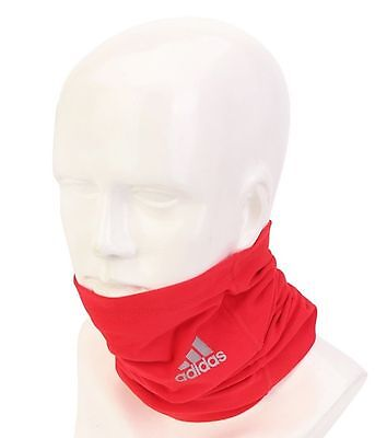 adidas 2016 Unisex Neck Warmer Climalite Running Wrap Red Face Mask Tube AX8807