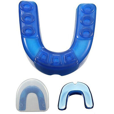 Plasticity Gum Shield Mouth Guard Piece Teeth Protector Boxing Basketball Protec