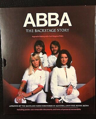 ABBA : The Backstage Story - Hardback Boxed Book c/w Poster, Documents etc