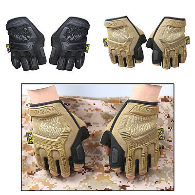 Gel-padded Mens Tactical Cycling Half-finger Fingerless Gloves Bike Bicycle M-XL