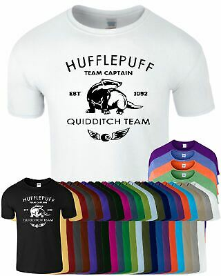 Hufflepuff Mens T-Shirt HARRY POTTER Hogwart Tee Crew Neck Gift T Shirt
