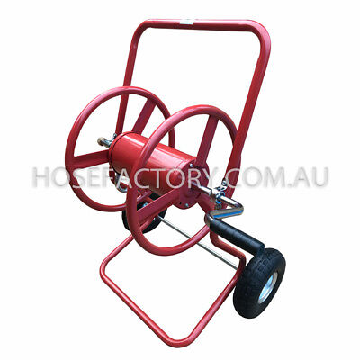 "Steel Heavy Duty Hose Reel 2 wheel Cart trolley for 1/2"" and 3/4"" Hose RRP$199"