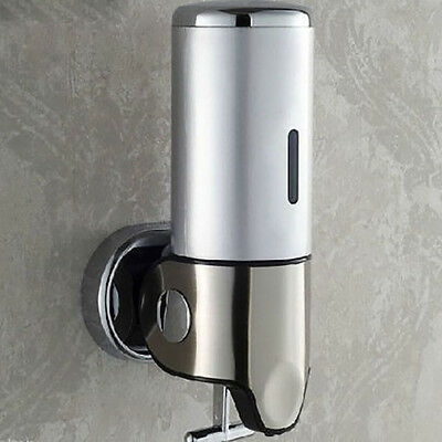 500ML Wall Mounted Bathroom Stainless Steel Soap Dispenser Liquid Soap Box New