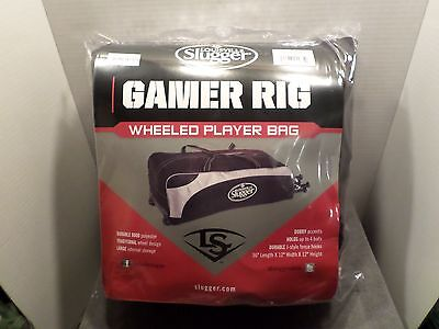 Black Louisville Slugger Gamer Rig Wheeled Player Bag New In Bag Baseball Bag