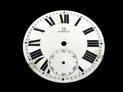 OMEGA #8 , ORIGINAL ENAMEL DIAL FOR WATCHES,1910's, military style