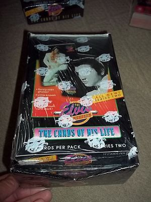 Elvis Presley ~ Cards of his Life ~ Complete Series 1 & 2 Boxes ~  Sealed