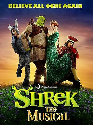 """Shrek the Musical 16"""" x 12"""" Reproduction Poster Photograph"""
