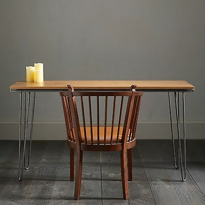 Solid English Oak Hairpin Desk - Made To Last A Lifetime