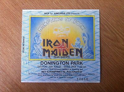 Iron Maiden Monsters Of Rock Donington Ticket Stub 1988