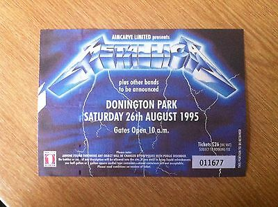 Metallica Monsters Of Rock Donington Ticket Stub 1995