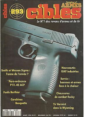 CIBLES N° 437 -SMITH & WESSON 317 - H&K MSG90 - SIG P220 SAO