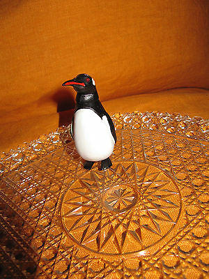 Pinguin mit Wackel-Kopf Breba Made in West Germany H:7,5 B:4cm schwarz,weiss,rot