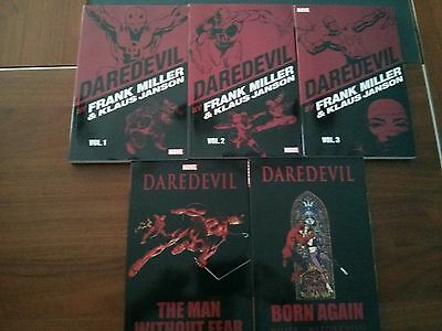 Lot 5 TPB Daredevil by Frank Miller Janson 1,2,3 + Man Without Fear + Born Again