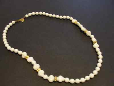 """Vintage 100% Authentic Miriam Haskell Old beaded/pearl signed necklace 23"""""""