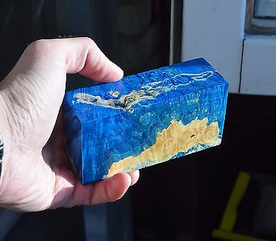 hybrid stabilized wood blank knife handle scales box mod maple burl grips resin