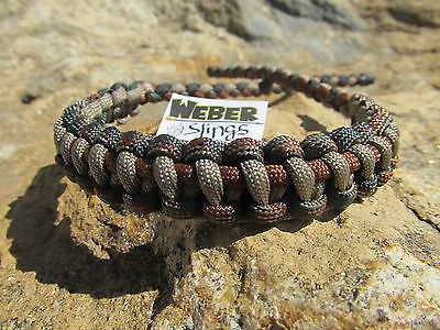 Compound Bow Wrist Sling Woodland Camo Olive Green Tan And Rust Brown