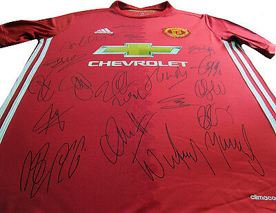 NEW! 1-17 Man Manchester United Team Signed Jersey Autograph, Incl  IBRAHIMOVIC