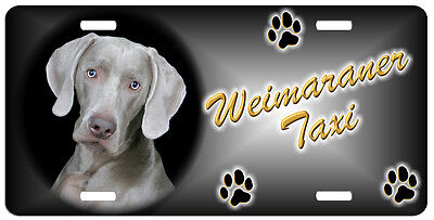 Weimaraner Taxi Line License Plate (( LOW CLEARANCE PRICE ))