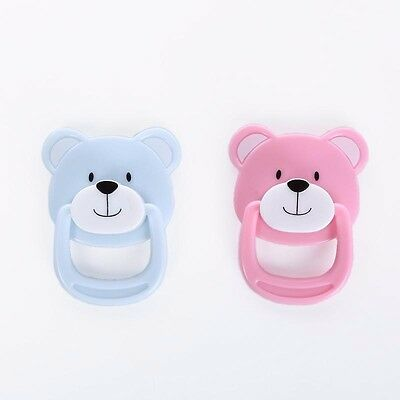 Pink Blue Bear Magnetic Pacifier Dummy For Reborn Baby Dolls Randomly Ship 1pc